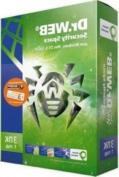 Программный продукт Dr.Web Security Space. Регистрационный ключ 3 Пк на 1год BHW-B-12M-3-A3
