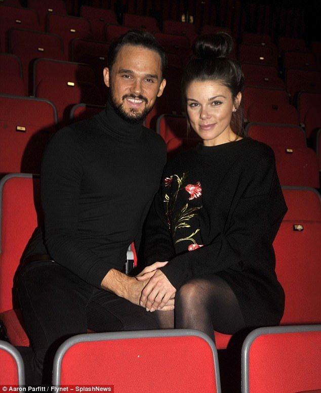 Closer than ever: Coronation Street's Faye Brookes cosied up to Gareth Gates at Christmas ...