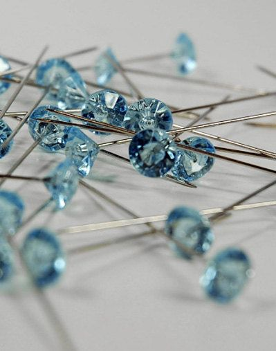 Corsage pins Boutonniere pins 20 pce Blue by FaveursdeMariage, $2.99