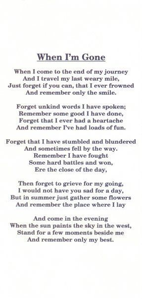 Such a beautiful way to say goodbye.