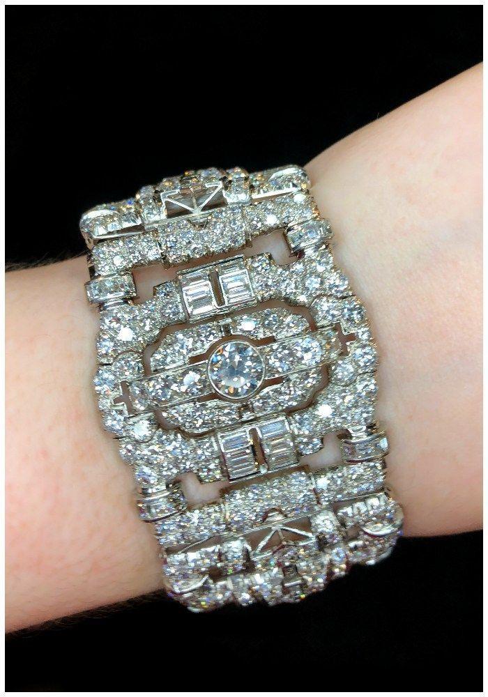 A beautiful antique Art Deco diamond bracelet! At JS Jewels LTD and Ke ……