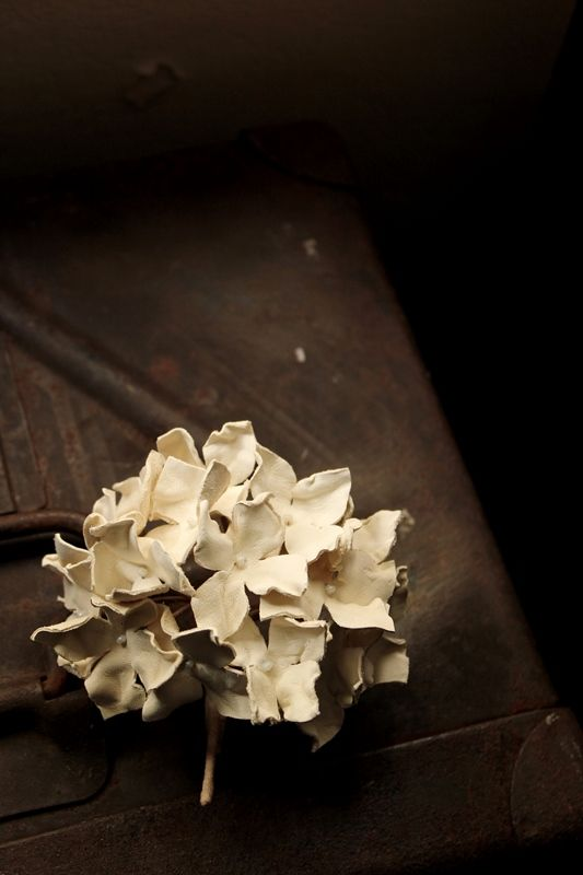 Hydrangea Leather Corsage