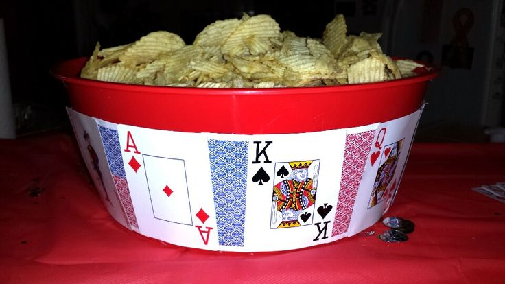 Poker party chip bowl..