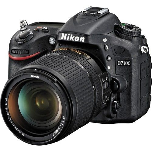 Nikon D7100 (13302) Black Digital SLR w/ 18-140mm VR Lens