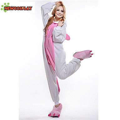 kigurumi Pyjamas New Cosplay® Unicorn Collant/Combinaison Fête / Célébration Pyjamas Animale Halloween Incarnadin Mosaïque Polaire de 1410832 2017 à €22.53