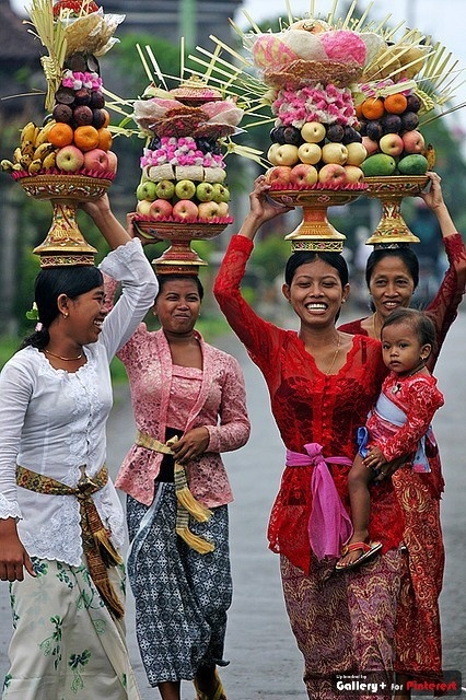 Balinese Traditional Costume. Due to the tropical climate of Bali, the island of Indonesia, clothing is lightweight.
