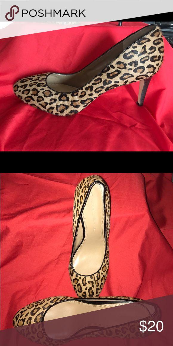 Banana Republic Heel Leopard Print Banana Republic Heel Banana Republic Shoes Heels