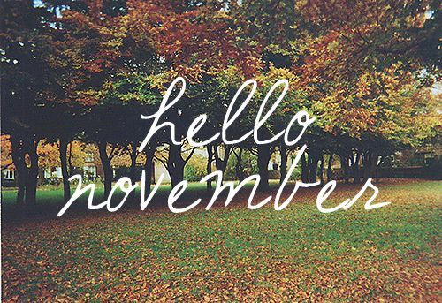 hello November iPhone lock screen wallpapet