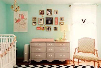 kids room in pastel color