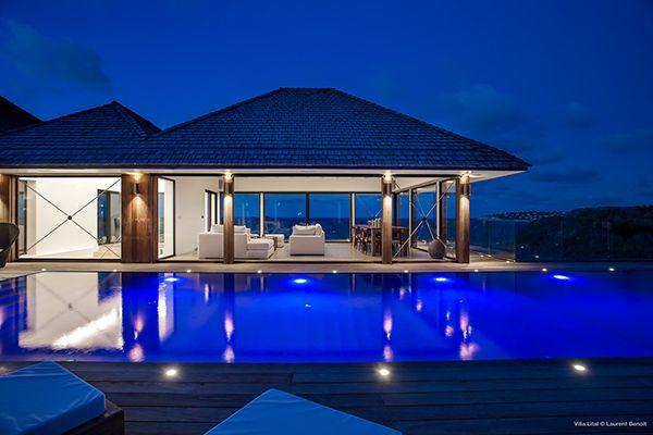 Villa LIT, #beachfront #villa in #StBarts. Weekly #rental from 20,000$ to 135,000$. www.homeinstbarts.com