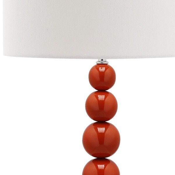 Safavieh Lighting 31-inch Jenna Stacked Ball Orange Table Lamps (Set of 2)
