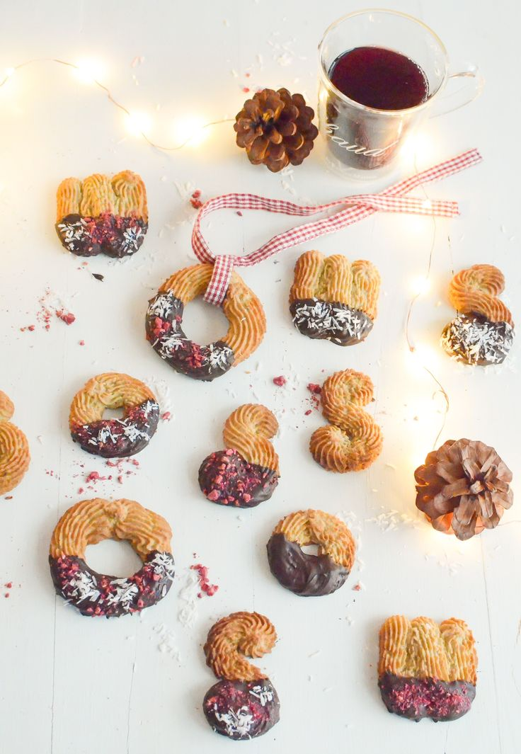 Gluten free and dairy free Spritz bredele Christmas biscuits