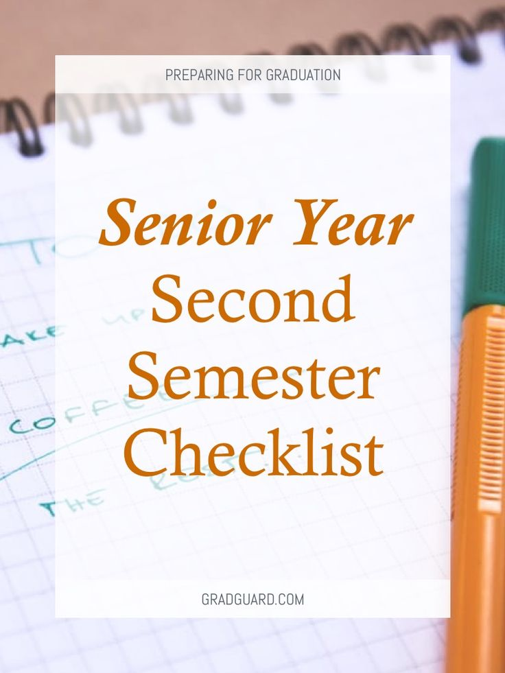 """The second semester of senior year can be one of your best. You're so close to finally getting what you've worked hard for all these years: your diploma. Fun and college appreciation is at an all-time high. Despite the anticipated weekends and """"more..."""