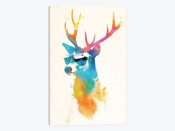 "Sunny Stag by Robert Farkas Canvas Print 26"" L x 40"" H x 0.75"" D - eWallArt"