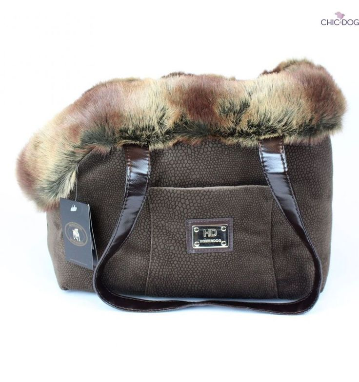#dogbag by Homerdog - super warm, comfortable and cozy , yet stylish and chic. Brown nouance | Trasportino borsa invernale per cani #Chic4Dog