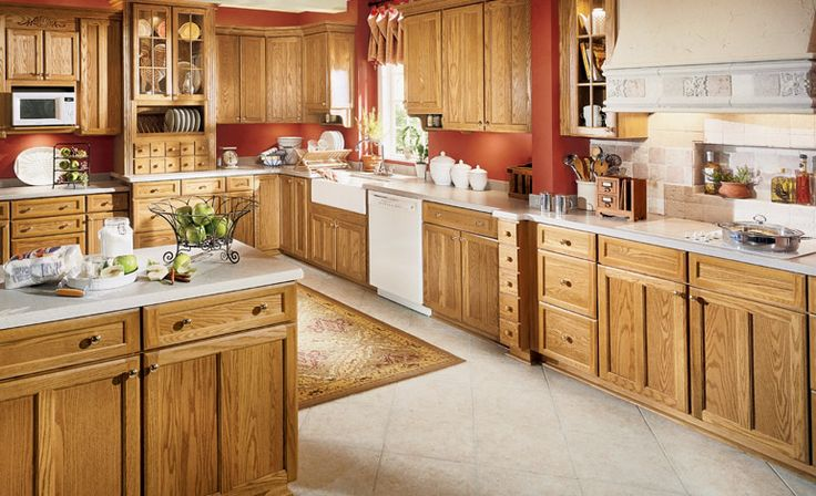 Oak Cabinets With White Countertops Decorating Pinterest