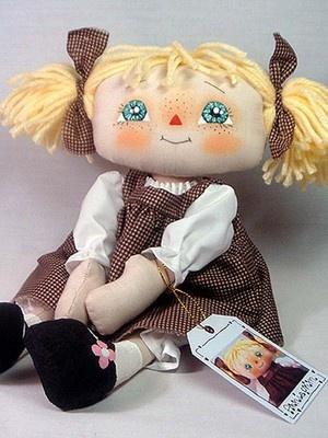 Cute Pigtail Raggedy Annie