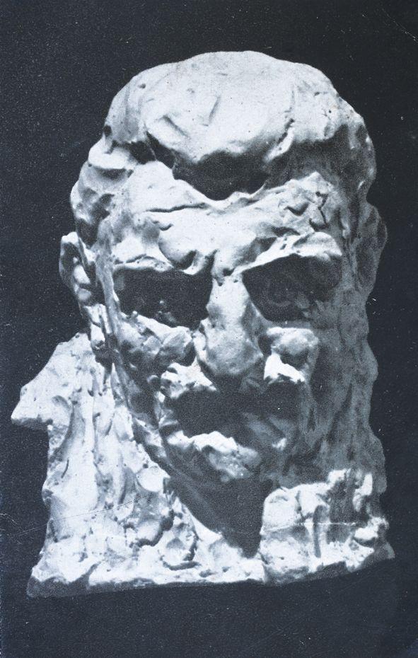 Luigi Varoli / Ritratto di Roberto Pollastri / 1930 / gesso, h 37 cm