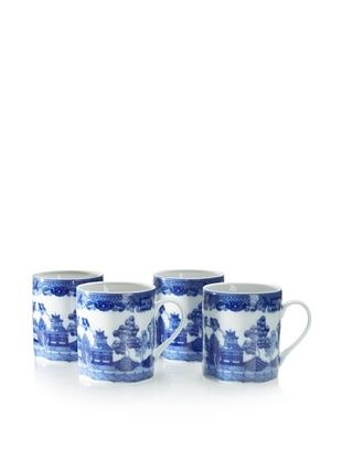 49% OFF Set of 4 Blue Willow Mugs