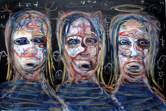 New Art by Kelly Moore. Hearing Things  24 x 36 oily on a good bord