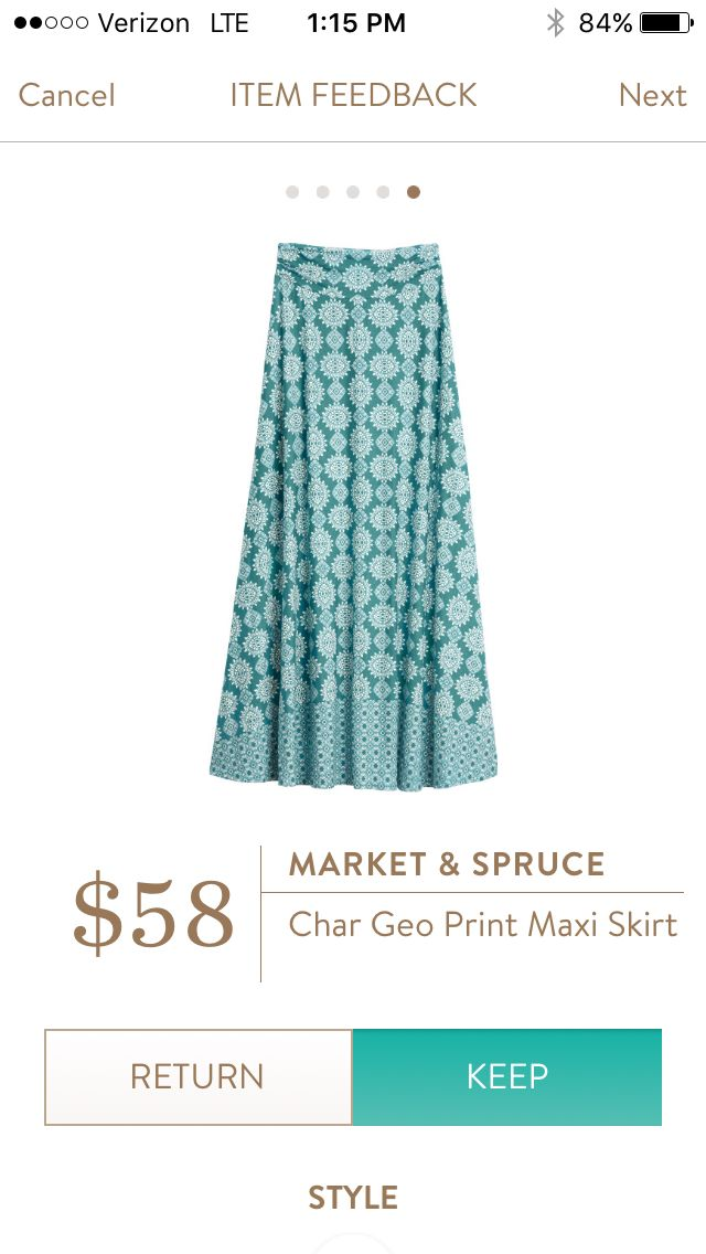 Market & spruce  Char Geo print maxi skirt April 2016