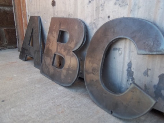 Metal Letters by Cuttingedgemetalwork on Etsy, $16.00