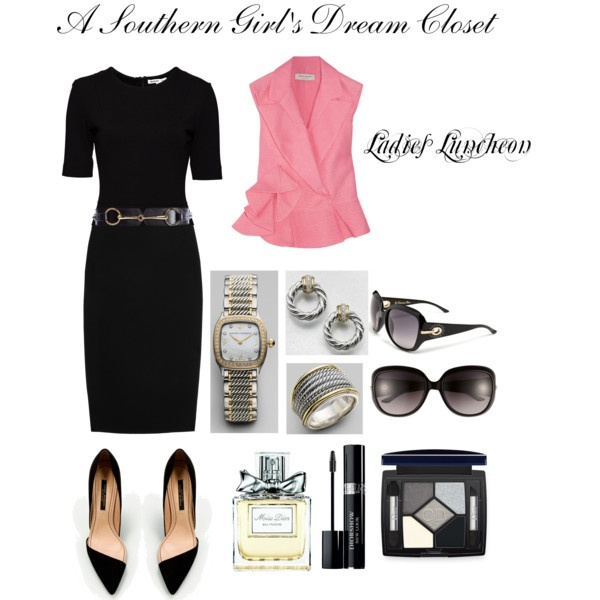 A Southern Girl's Dream Closet: Ladies Luncheon, created by sweetasasouthernpeach on Polyvore