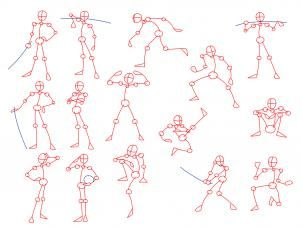 how to draw anime poses step 1
