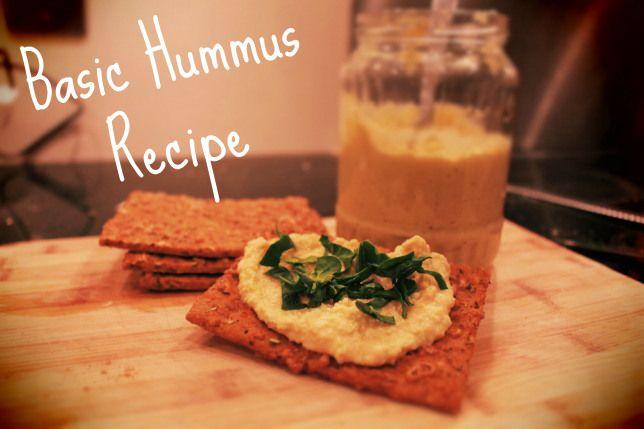 Basic Hummus recipe #vegetarian #vegan