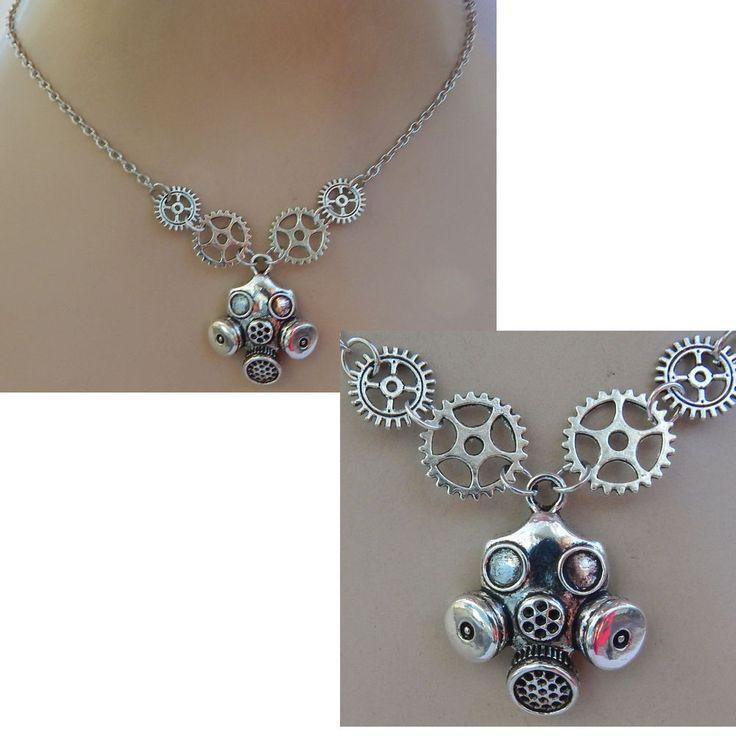 Silver Steampunk Gas Mask Pendant Necklace Handmade NEW Silver Cosplay Fashion #Handmade #Pendant https://www.ebay.com/itm/152857467920