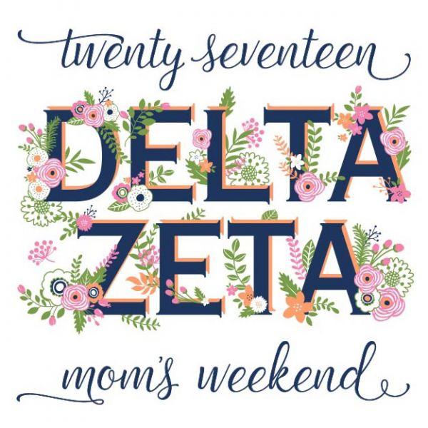 Delta Zeta mom's weekend | Greek House t shirt design ideas | Frat | fraternity | srat | sorority | rush | shirt design | Greek life | frat tank | design proof | greek apparel | DZ | floral