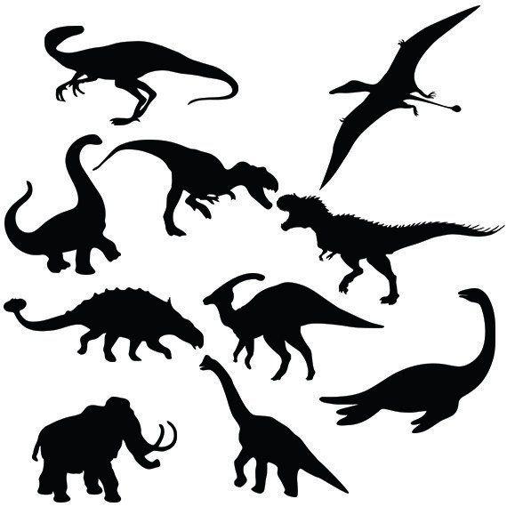 Dinosaur Svg Silhouette Pack Dinosaurus Clipart Digital Download Svg Png Dxf Eps In 2021 Dinosaur Silhouette Dinosaur Animal Stencil
