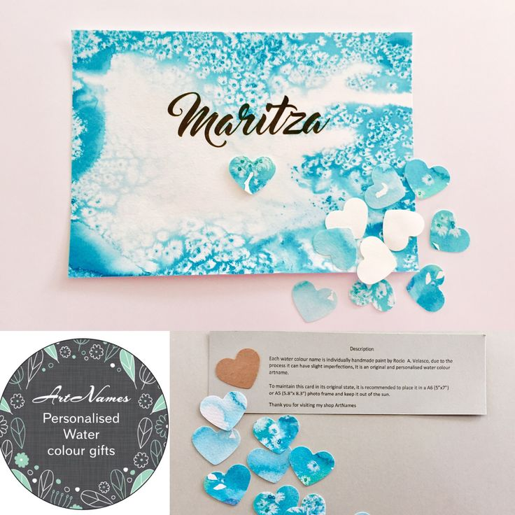 Customised Water Colour Name