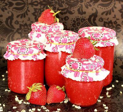 Bodzavirágos eperlekvár - strawberry jam with elderflower