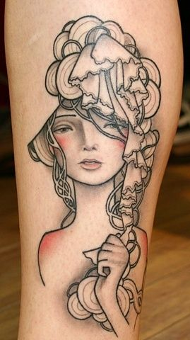 Beautiful. And the look is very art nouveau. If I did something like this it'd be a Mucha print