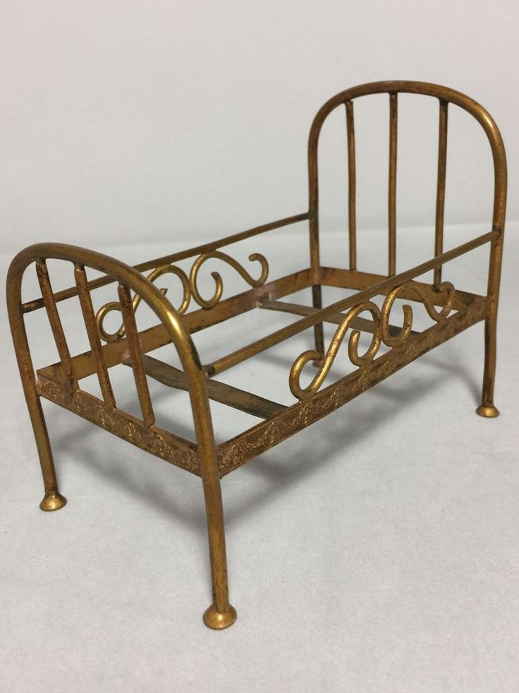 Antique Victorian Metal Bed : Best images about antique dollhouse on