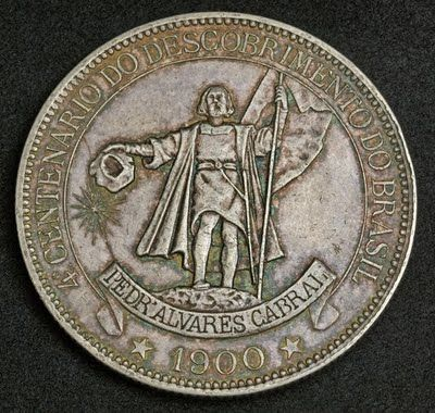 Brazil coins 4000 Reis Silver Commemorative coin 400th anniversary of the discovery of Brazil Cabral