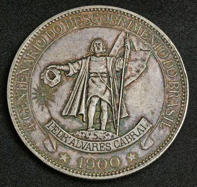 Brazil commemorative 4000 Reis coin, 1900