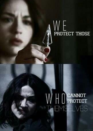 """"""" Protegemos a aquellos que no pueden protegerse. """"            - Alisson Argent ( Teen Wolf )."""