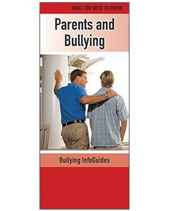 Parents and Bullying InfoGuide - Help your parents understand bullying. This essential InfoGuide provides information on the different types of bullying, and it offers practical, easy to follow advice to the parents of targets, bullies, and bystanders. It also encourages parents to work with their school to help make their school bully free.