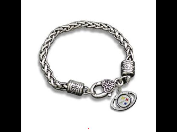 Silvertone Pittsburgh steeler charm bracelet   – Products