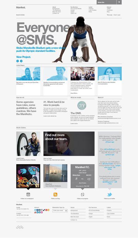 Clean Web Site | Grid & Helvetica