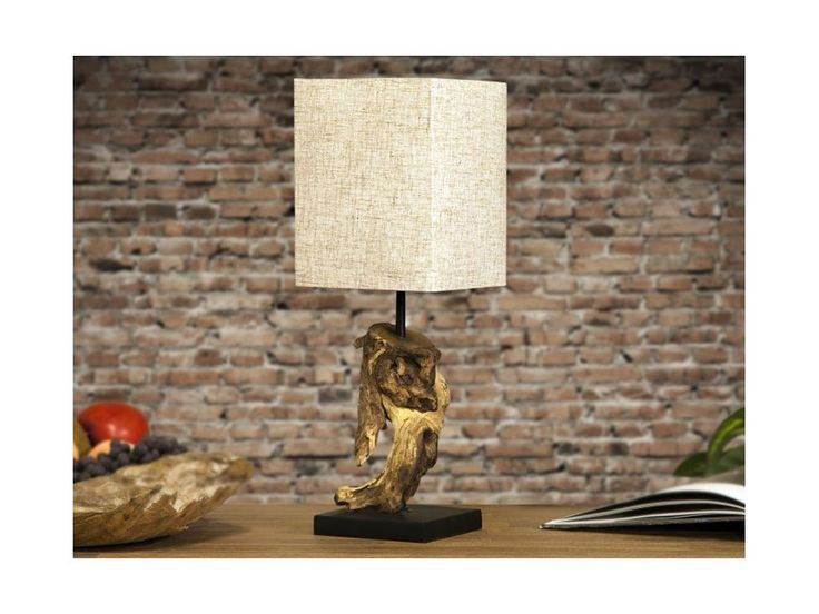 Lampa Stołowa Hypnotic beżowa — Lampy stołowe Invicta Interior — sfmeble.pl  #wood  #natural  #homedesign
