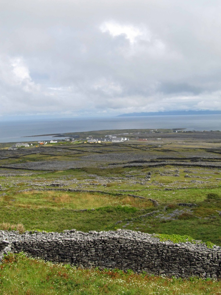 View from Dun Eochla, Aran Islands, Ireland