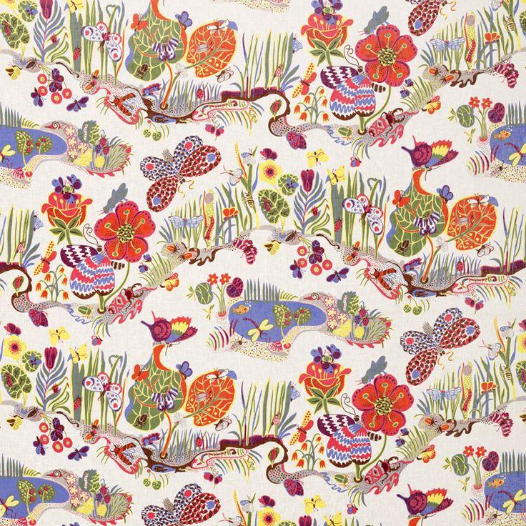 Butterfly by Josef Frank #Textiles #Josef_Frank #Svenskt_Tenn
