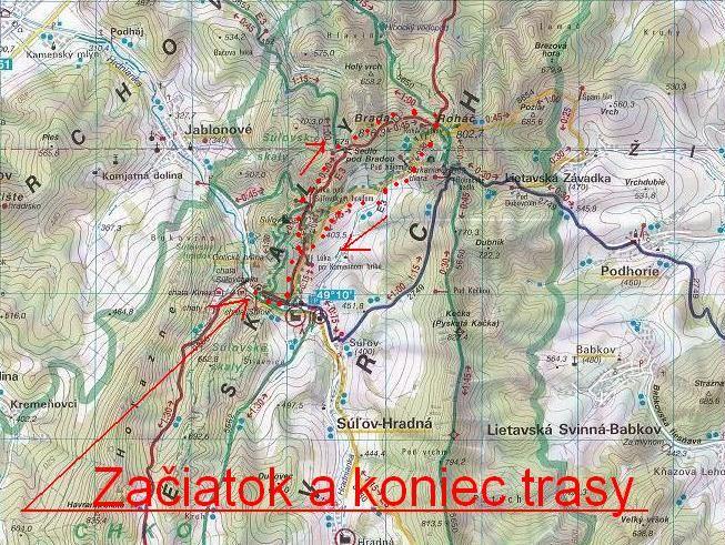 KST Krompachy   17. Súľovské skaly - Súľovský hrad