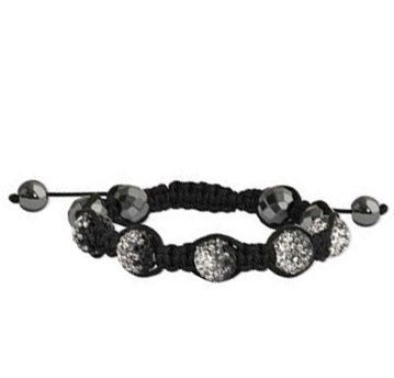 Shamballa Bracelet 10mm Faceted Hematite Beads and Five Black Crystal Beads Jewelry At Cost. $19.95. 10mm High Quality Crystal. Adjustable Size. Save 72%!