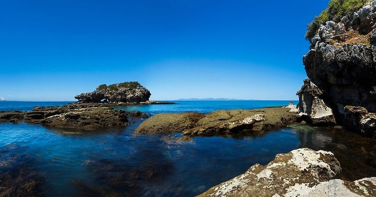 Walkerville South, ocean, rocks, paradise, blue, panorama