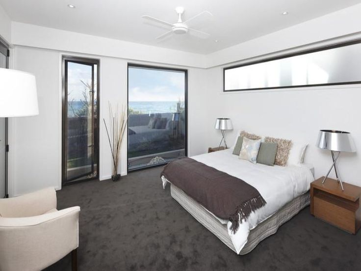 Modern Bedroom Design Idea With Carpet U0026 Floor To Ceiling Windows Using  White Colours   Bedroom Photo 1394042