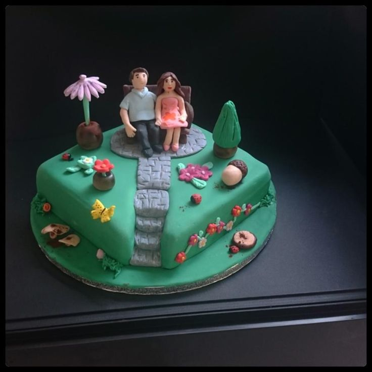 Couple in the garden - Cake by nef_cake_deco